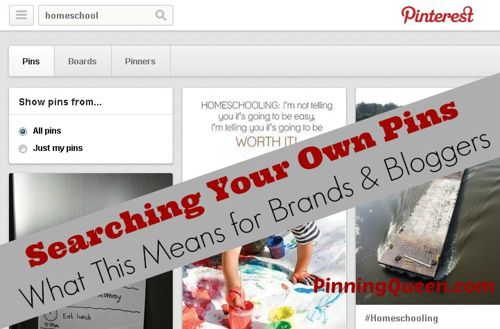 How to use the newest Pinterest feature: searching your own pins on Pinterest
