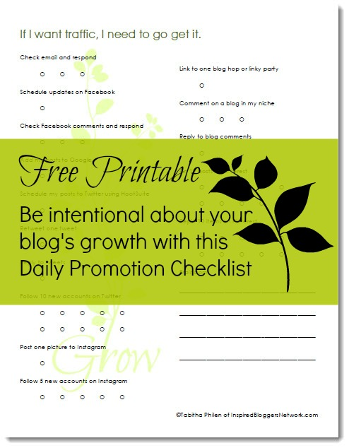 How do you get traffic to your blog? Be intentional!