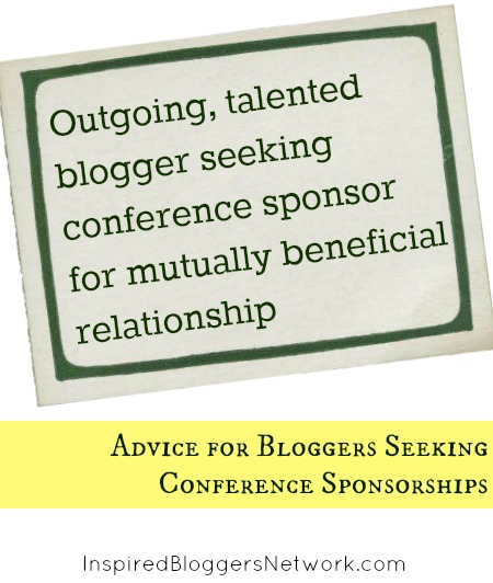 Conference sponsorships - how a blogger can get one