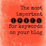 The Most Important Keyword Spots on Your Blog
