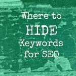 Hiding SEO Keywords in Blog Posts