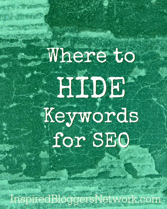 where to place keywords to help seo