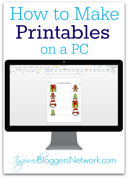 How to Make Printables on a PC I inspiredbloggersnetwork.com