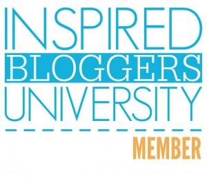 Inspired Bloggers University member