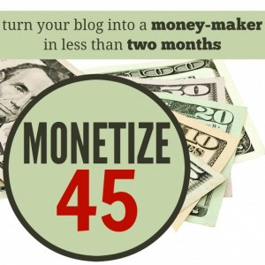 make money blogging monetize45