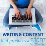 Writing Content to Produce a Profit