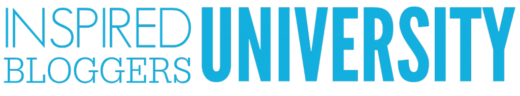 Inspired bloggers university header logo blue