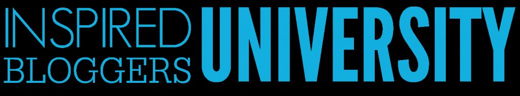 Inspired bloggers university header logo blue