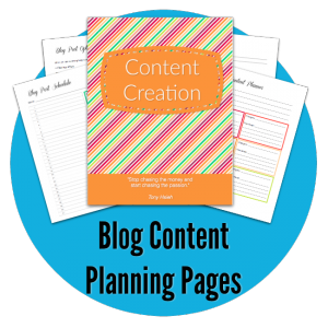 Blog Content Planning Pages - Free Blogging Resources