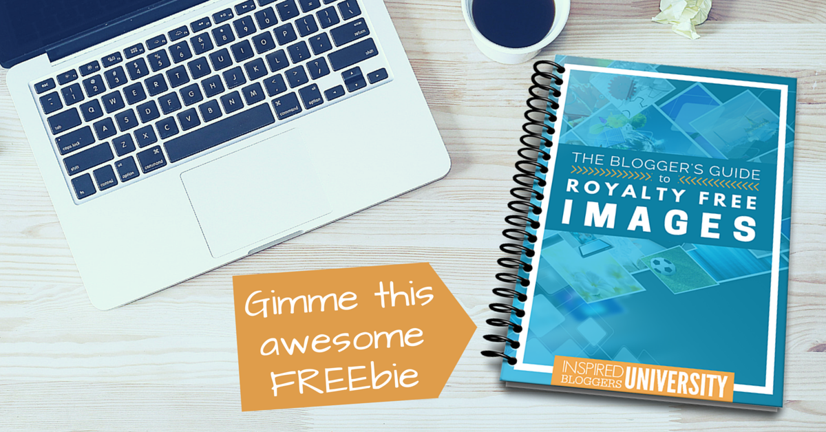 Sign up as a FREE member of Inspired Bloggers University and access The Blogger's Guide to Royalty Free Images for FREE.