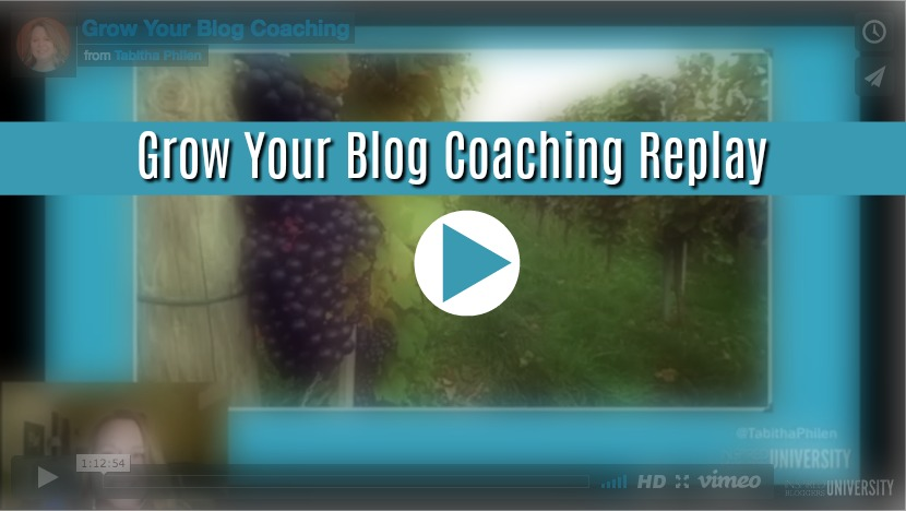 grow your blog coaching replay