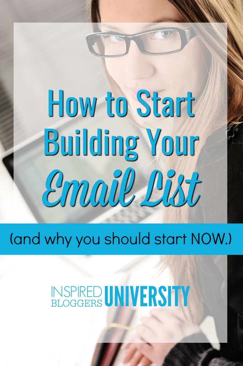 Don't wait to start collecting email subscribers. Begin building an email list NOW with these amazing tips.