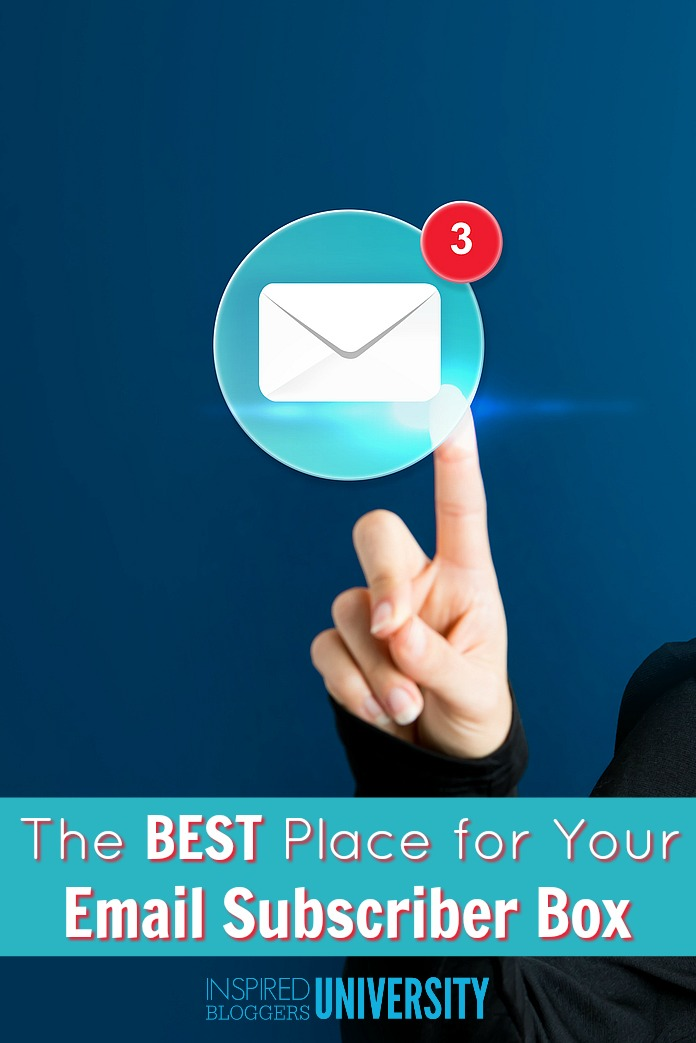 Increase your email subscribers instantly by putting an opt in box in THIS spot, the place where more visitors are converted to email subscribers than any other.